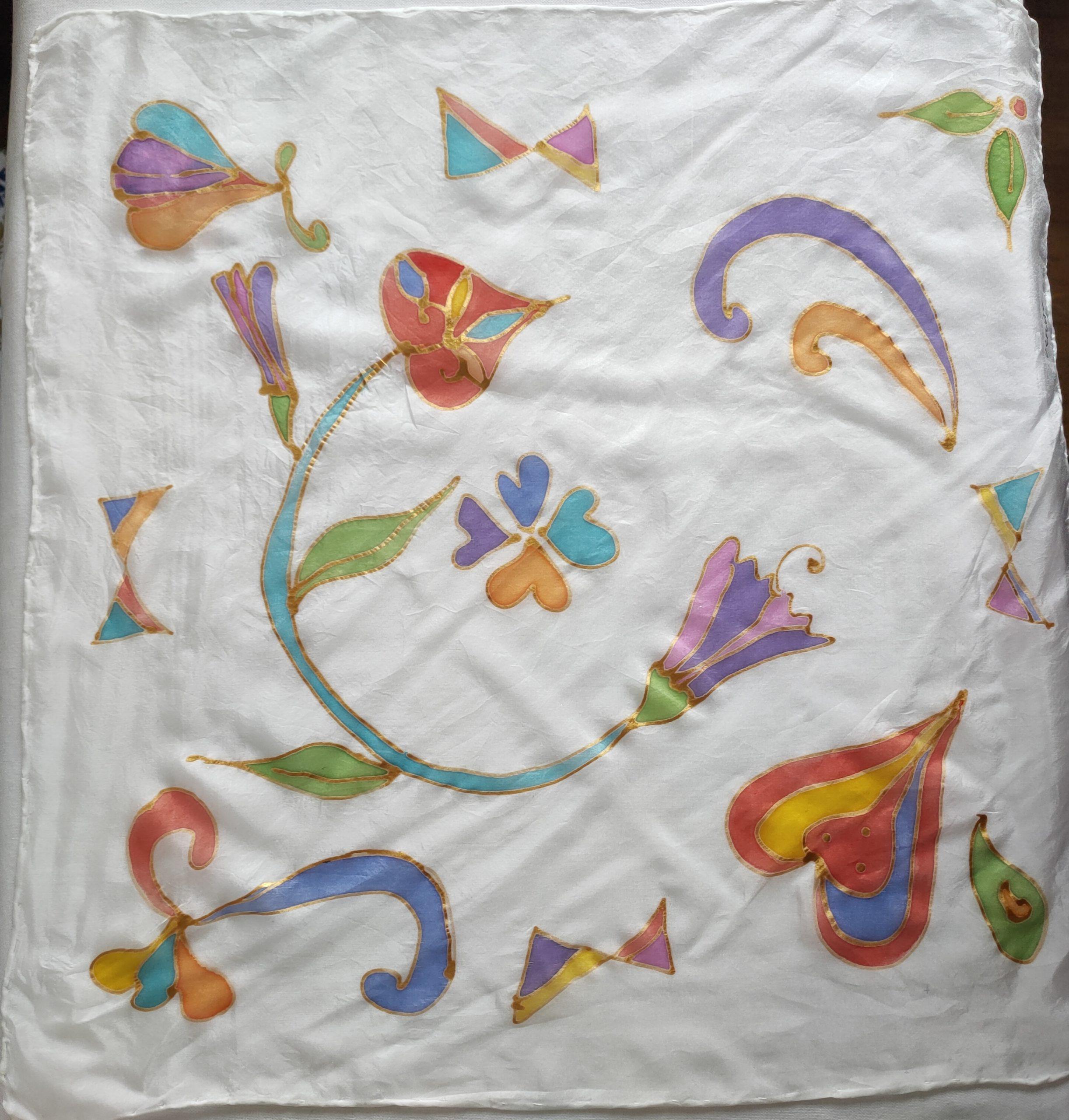 Foulard modèle Arabesques