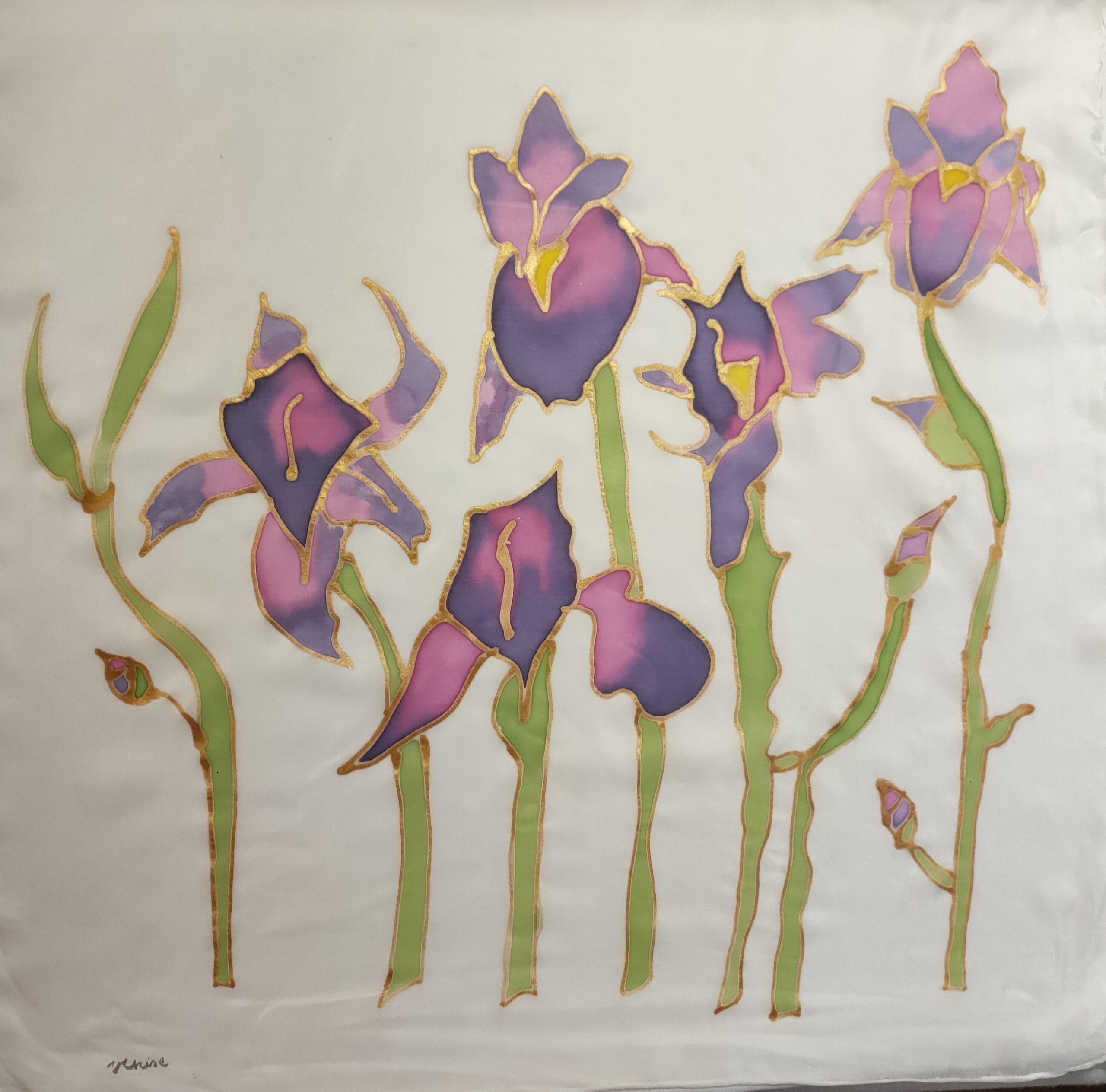 Foulard modèle Iris